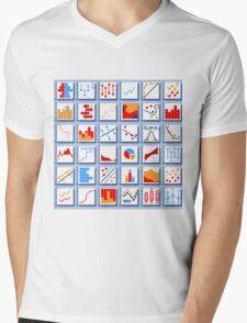 Stats Element Set in Various Colors Mens V-Neck T-Shirt