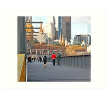 Yarra River Pedestrians Art Print