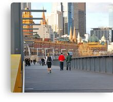 Yarra River Pedestrians Canvas Print