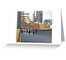 Yarra River Pedestrians Greeting Card