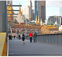 Yarra River Pedestrians Photographic Print