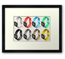 Isometric Smart Watch in Six Colors Framed Print