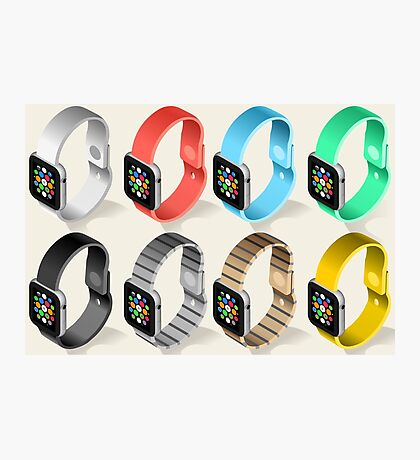Isometric Smart Watch in Six Colors Photographic Print