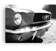 Ford Mustang - black & white Canvas Print