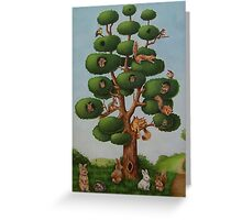 Squirrel Tree Greeting Card