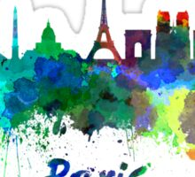 Paris skyline in watercolor Sticker