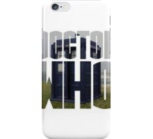 Doctor who logo with tardis iPhone Case/Skin