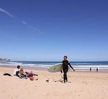 Surfer Girl - Woolamai Beach by Luke Crozier