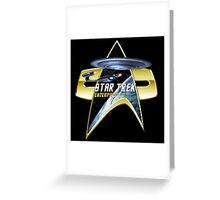 StarTrek Enterprise D Com badge Greeting Card
