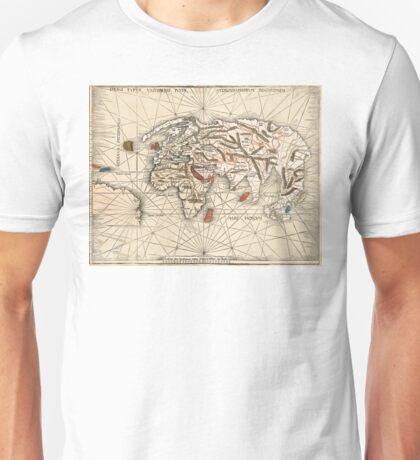 1513 World map by Martin Waldseemüller Unisex T-Shirt