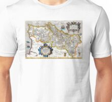 1560 Map of Portugal by Ortelius Unisex T-Shirt