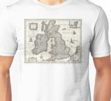 1631 Map of the British Isles by Joan Blaeu Unisex T-Shirt