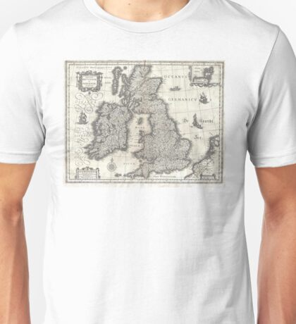 1631 Map of the British Isles by Joan Blaeu Unisex T-Shirt