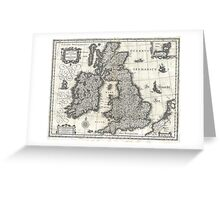 1631 Map of the British Isles by Joan Blaeu Greeting Card
