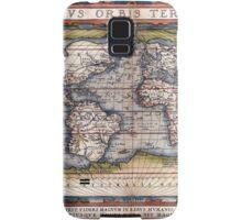 1564 World Map by Ortelius Samsung Galaxy Case/Skin