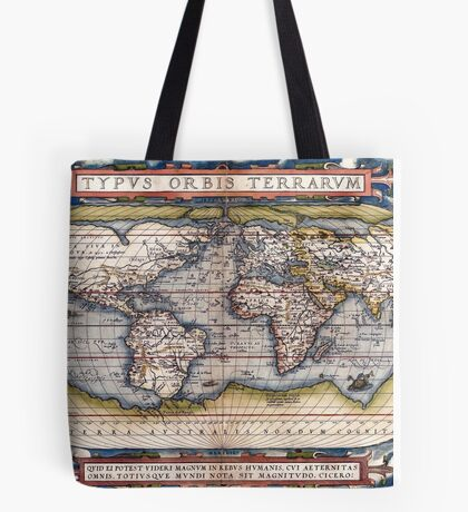 1564 World Map by Ortelius Tote Bag