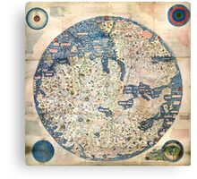 1458 World Map by Fra Mauro Canvas Print