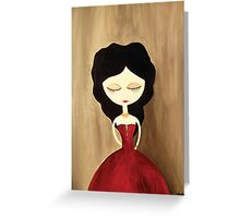red princess Greeting Card