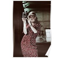 the vintage photographer Poster