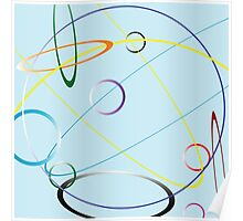 Circles composition Poster