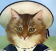 Vintage Sailor Cat by simpsonvisuals