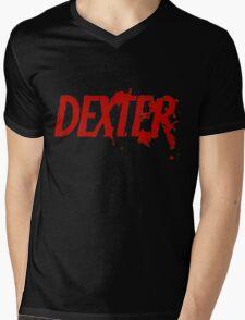 Dexter logo Mens V-Neck T-Shirt