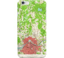 Massachusetts  USGS Historical Topo Map MA Lowell 350246 1950 24000 iPhone Case/Skin