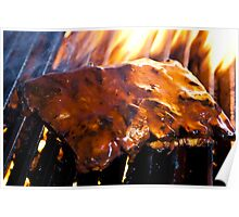 Char-Grilled Ribs-Pork Poster