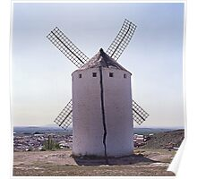 Windmill´s back - Molino de viento por atrás Poster