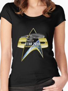 StarTrek Enterprise 1701 Com badge Women's Fitted Scoop T-Shirt