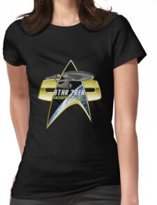 StarTrek Enterprise 1701 Com badge Womens Fitted T-Shirt