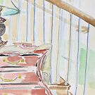 Over the bombay chest & onto the stairs by Juliane Porter