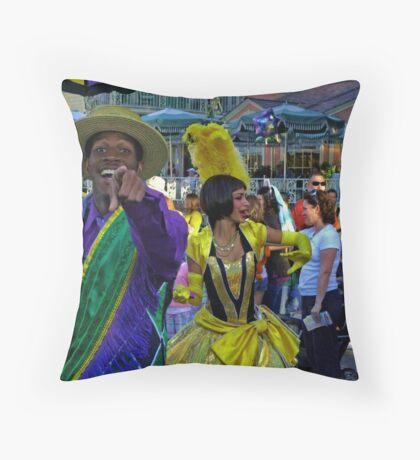 Christmas Season - New Orleans Style! Throw Pillow