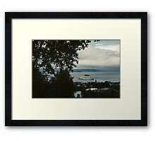 Cruise liner in port Trondheim Norway 19840622 0004 Framed Print
