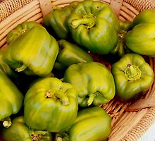Organic Bell Peppers by Renee D. Miranda