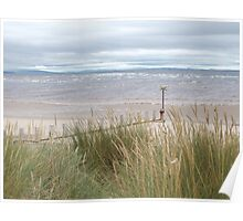 Beach - Findhorn, Moray, Scotland Poster