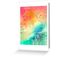 Watercolor Wonderland Greeting Card