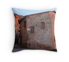 Sunset - Street in Montepulciano Throw Pillow