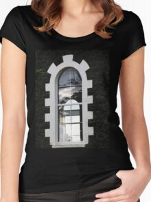 Double window reflection Women's Fitted Scoop T-Shirt
