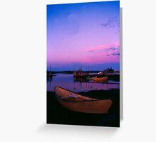 Dory at sunrise - Blue Rocks, Nova Scotia Greeting Card
