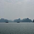 Halong Bay Panorama  by Luke Crozier