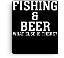 fishing beer Canvas Print