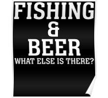 fishing beer Poster