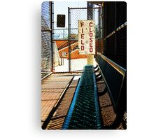 Field Closed - empty duguout Canvas Print