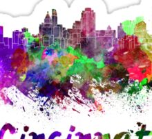 Cincinnati skyline in watercolor Sticker