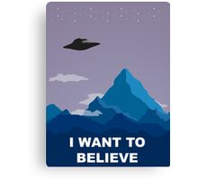 I WANT TO BELIEVE DRAWING Canvas Print