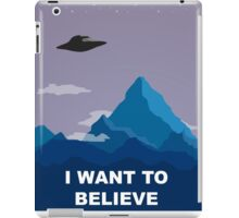 I WANT TO BELIEVE DRAWING iPad Case/Skin