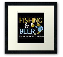 fishing and beer Framed Print