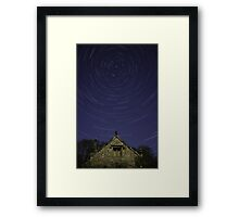 Star Trails Above The Old Dairy Framed Print