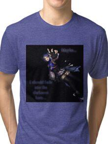 Aqua- Falling into Darkness Tri-blend T-Shirt